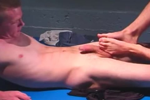 Two studs Footjobs And booty pounding