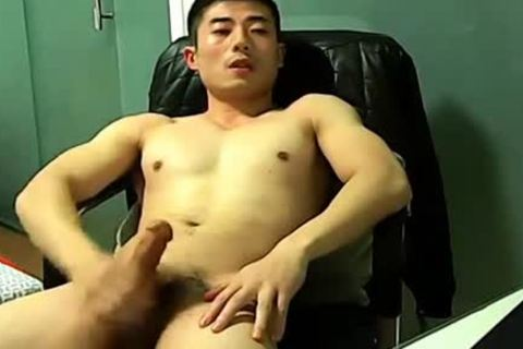 Chinese jerking off On web camera