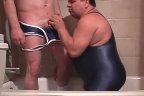 Pervy Lad pissing In twinkfriend's Trap while he's heading his rigided Tackle