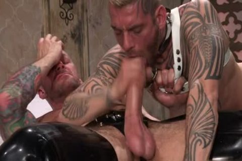 Tattoo'd Muscle Beefcakes With Bum Love Behind pounding Fetish take up with the tongue cock And Take A sperm flow