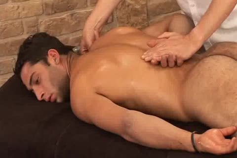 attractive Hunky Adrian Getting admirable Sensual Massage On His Searing Body And Hard Tool